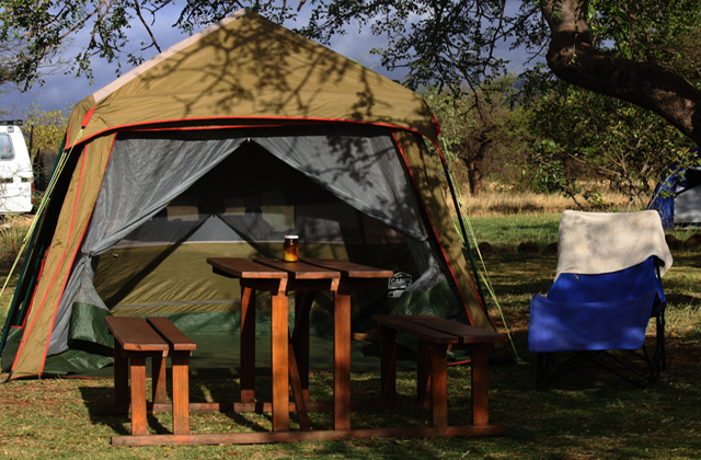 Tents are available for hire complete with bedding.